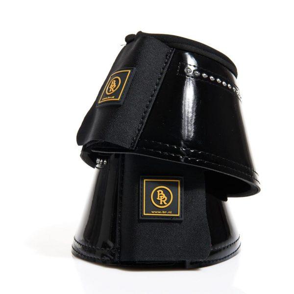 Svarta lackboots med bling